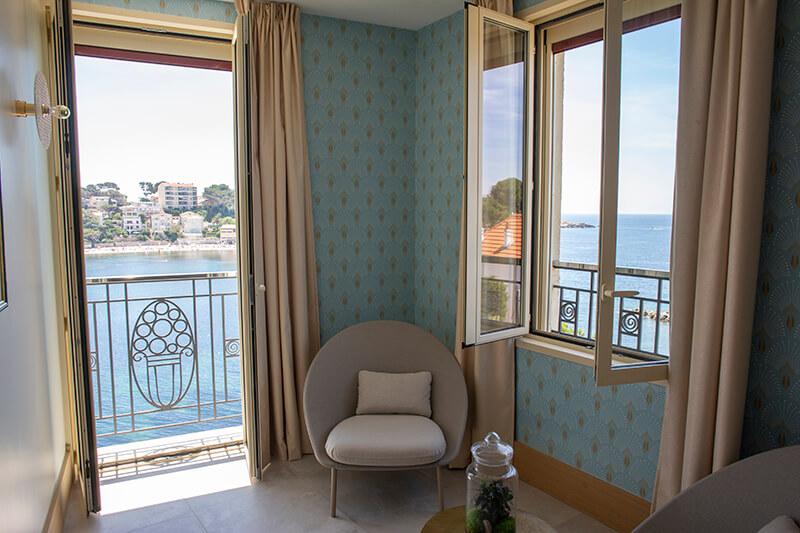 Hotel le Splendid - Chambre Vue Nacre vue sur Mer