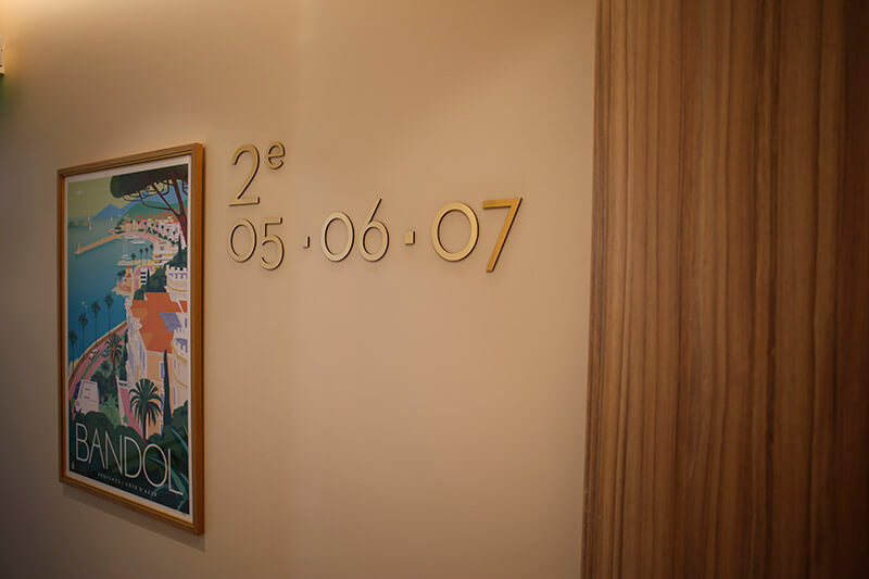 Etage 2 de l'Hôtel Le Splendid Bandol